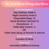 CareBear Regular Period Box Content