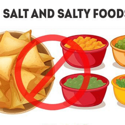 avoid salt food for period bloating