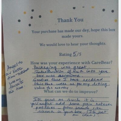 CareBear Customer Review Shubha
