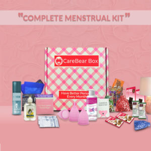 CareBear Complete Period Kit with mestrual cups