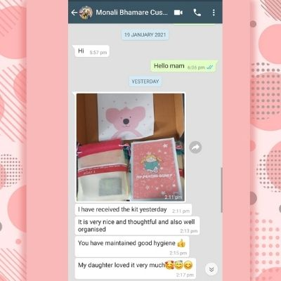 Monali Bhamare First period Kit Feedback